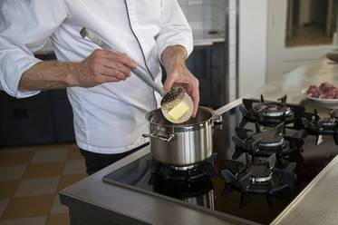 Put the butter into the saucepan